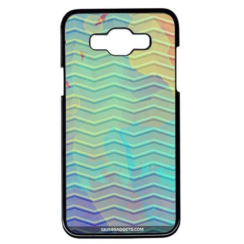 Colourful Waves For Samsung Galaxy Grand Max BLACK PRO CASE