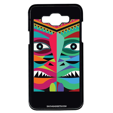 Tribal Face For Samsung Galaxy Grand Max BLACK PRO CASE