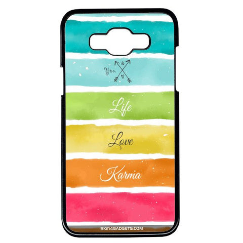Lets Love Life For Samsung Galaxy Grand Max BLACK PRO CASE