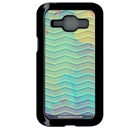Colourful Waves For SAMSUNG GALAXY J1 BLACK PRO CASE