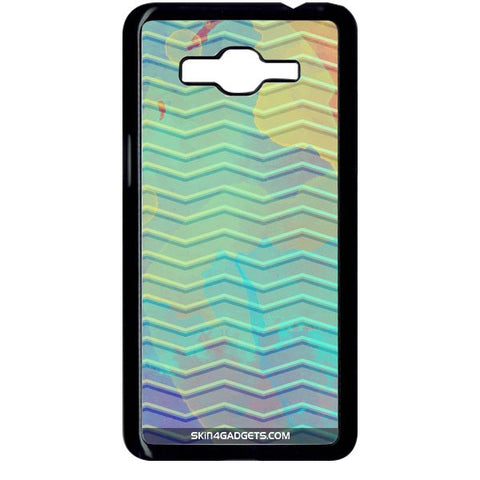Colourful Waves For SAMSUNG GALAXY GRAND PRIME BLACK PRO CASE