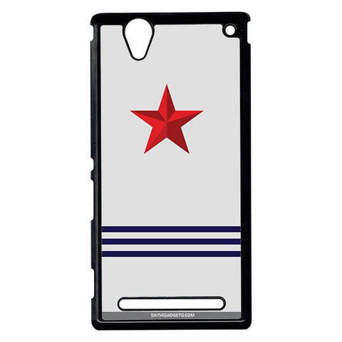 Star Strips For Sony Xperia T2 Ulta BLACK PRO CASE