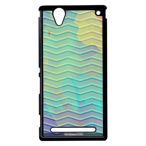 Colourful Waves For Sony Xperia T2 Ulta BLACK PRO CASE