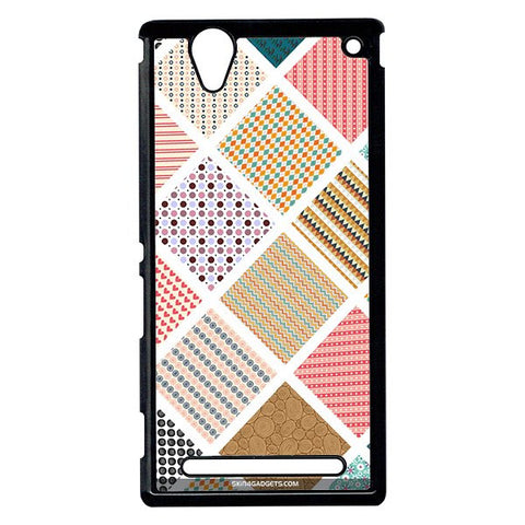 Varied Pattern For Sony Xperia T2 Ulta BLACK PRO CASE