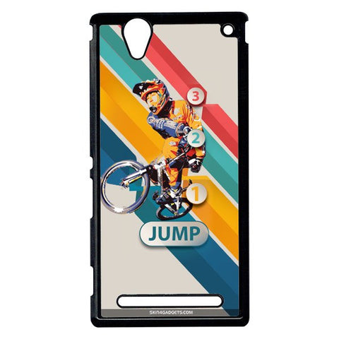 1 2 3 Jump For Sony Xperia T2 Ulta BLACK PRO CASE
