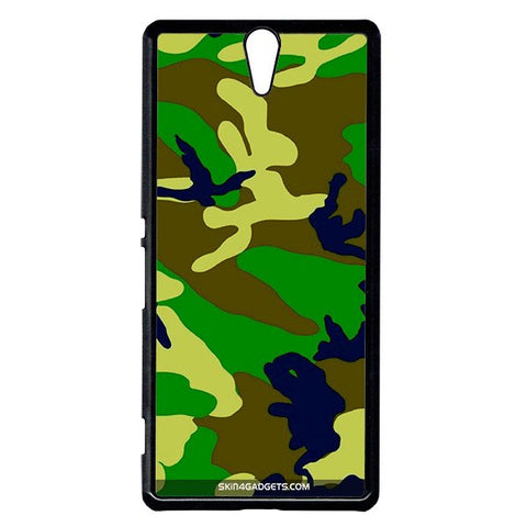 Camouflage - Green For Sony Xperia C5 BLACK PRO CASE