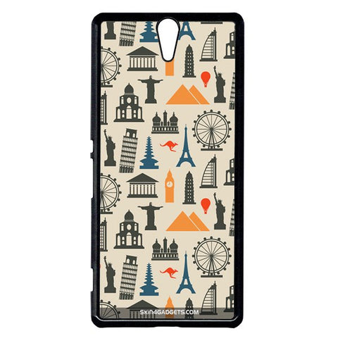 Wonders of the World For Sony Xperia C5 BLACK PRO CASE