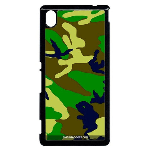Camouflage - Green For Sony Xperia M4 BLACK PRO CASE