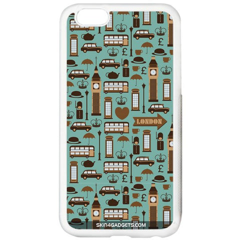 London Pattern For APPLE IPHONE 5S WHITE PRO CASE