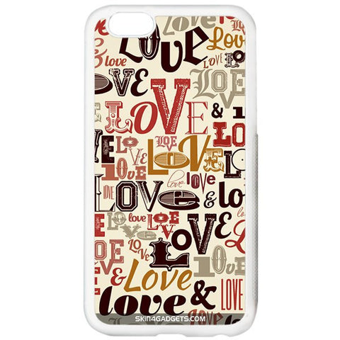 Love typography For APPLE IPHONE 6 WHITE PRO CASE