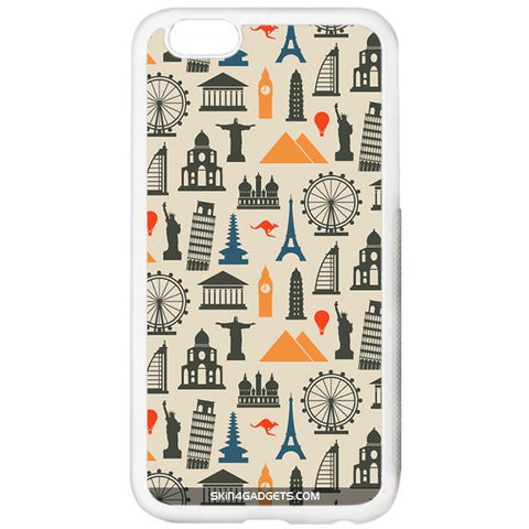 Wonders of the World For APPLE IPHONE 6 PLUS WHITE PRO CASE