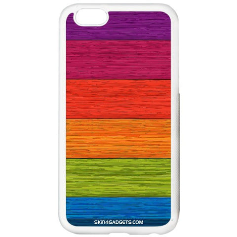Multicolor Wooden Planks For APPLE IPHONE 6 PLUS WHITE PRO CASE