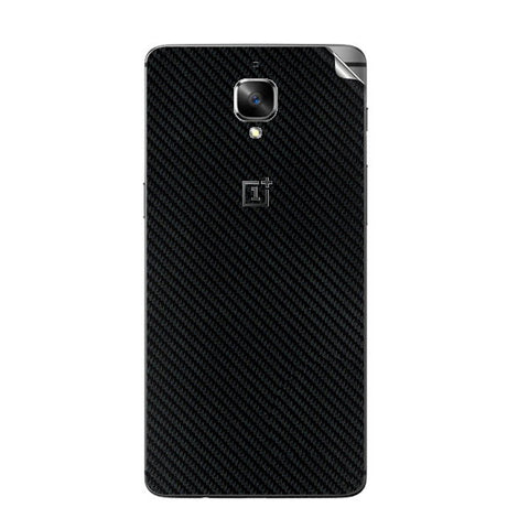 OnePlus 3 Black Carbon Fiber Skin Sticker