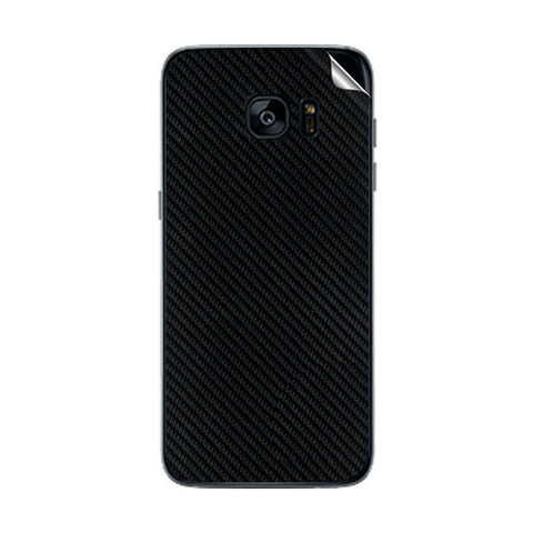 Samsung Galaxy S7 Edge Black Carbon Fiber Skin Sticker