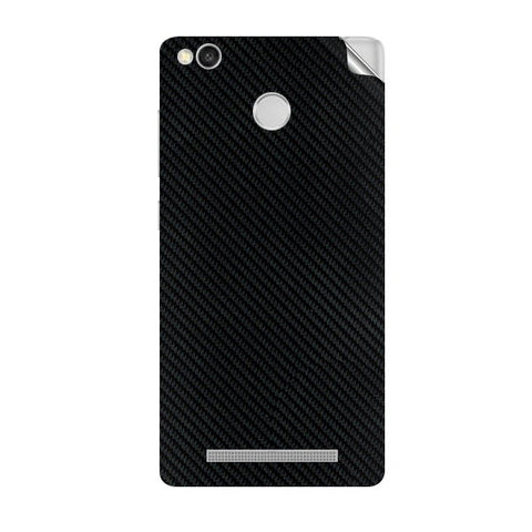 Redmi 3s Prime Black Carbon Fiber Skin Sticker