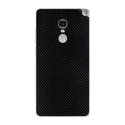 Redmi Note 4 Black Carbon Fiber Skin Sticker - skin4gadgets
