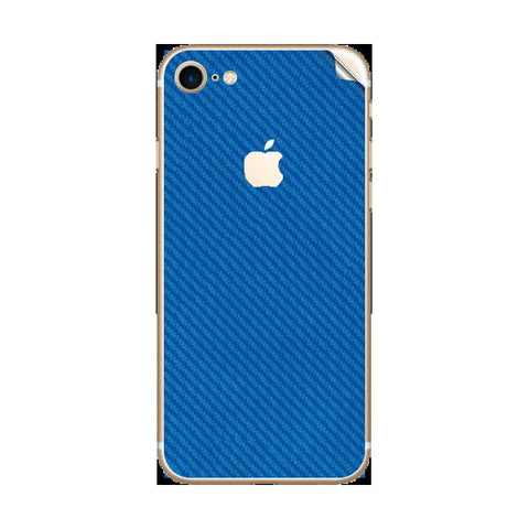 iPhone 7 Blue Carbon Skin Sticker