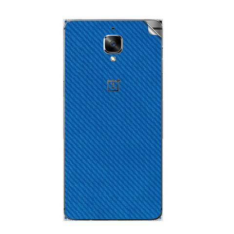 OnePlus 3 Blue Carbon Skin Sticker