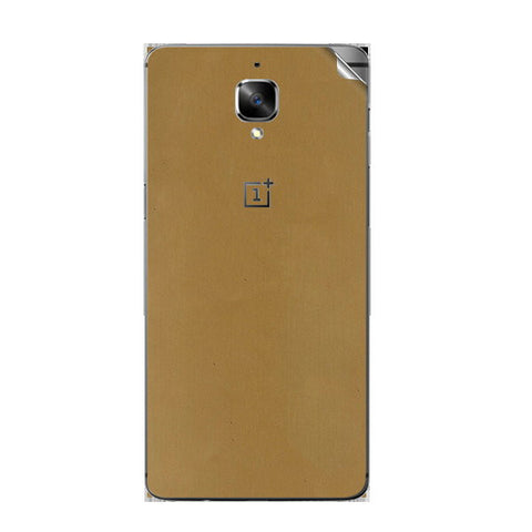 OnePlus 3 Gold Matte Skin Sticker