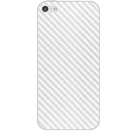 White Carbon Fiber Texture For APPLE IPHONE 5C Skin