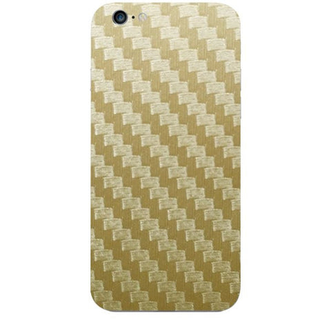 Golden Carbon Fiber Texture For APPLE IPHONE 6S Skin