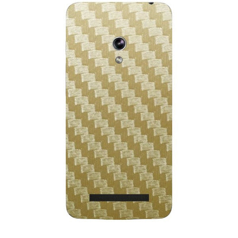 Golden Carbon Fiber Texture For ASUS ZENPONE 5 Skin
