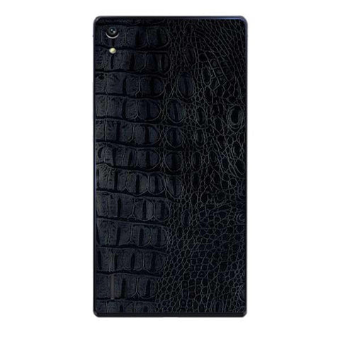 Black Leather Texture For HUAWEI HONOR P7 Skin