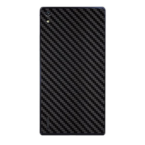 Black Carbon Fiber Texture For HUAWEI HONOR P7 Skin