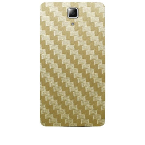 Golden Carbon Fiber Texture For LENOVO A536 Skin