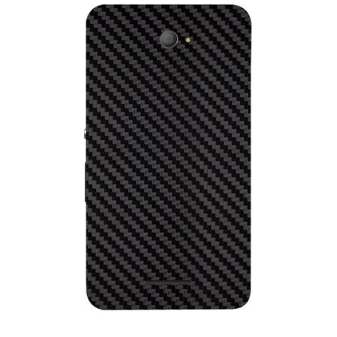 Black Carbon Fiber Texture For SONY XPERIA E4 Duo Skin