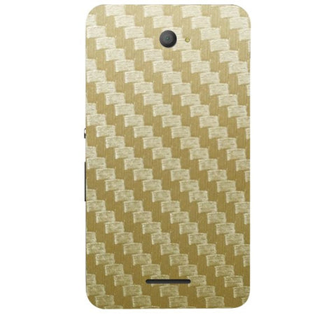 Golden Carbon Fiber Texture For SONY XPERIA E4 Duo Skin