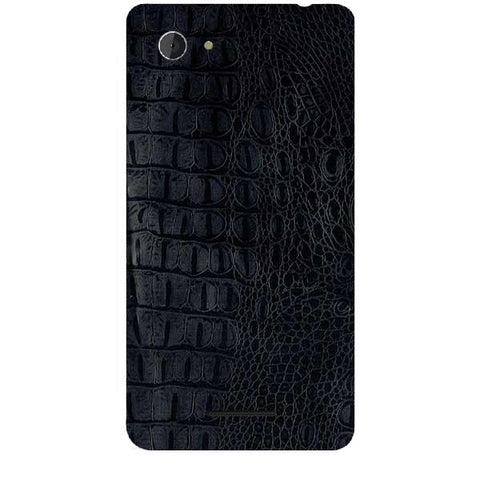 Black Leather Texture For SONY XPERIA E3 Skin