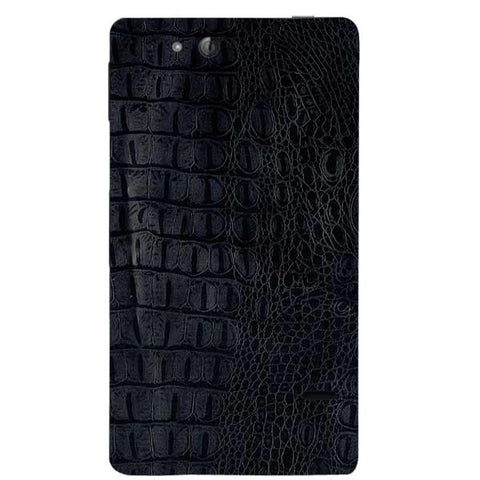 Black Leather Texture For SONY XPERIA GO (St27I) Skin