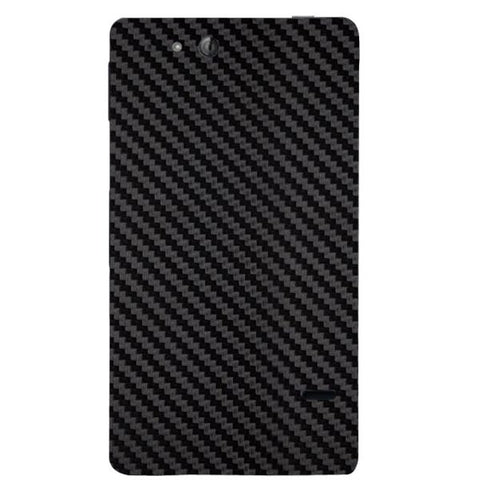 Black Carbon Fiber Texture For SONY XPERIA GO (St27I) Skin