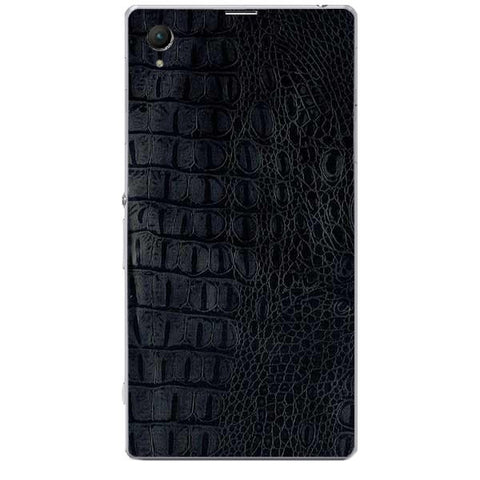 Black Leather Texture For SONY XPERIA Z1 COMPACT (M51w) Skin