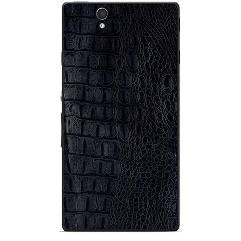 Black Leather Texture For SONY XPERIA Z (L36h) Skin
