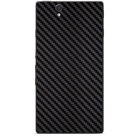 Black Carbon Fiber Texture For SONY XPERIA Z (L36h) Skin