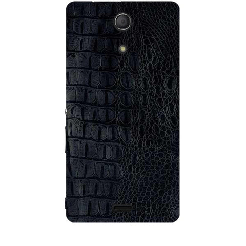 Black Leather Texture For SONY XPERIA ZR (M36H) Skin