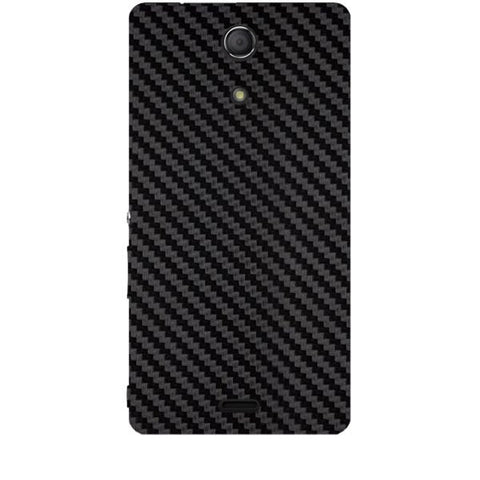 Black Carbon Fiber Texture For SONY XPERIA ZR (M36H) Skin