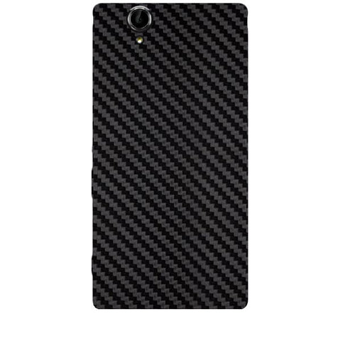 Black Carbon Fiber Texture For SONY XPERIA T2 ULTRA Skin