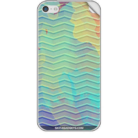 Colourful Waves For APPLE IPHONE 5C Skin