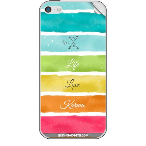 Lets Love Life For APPLE IPHONE 5C Skin