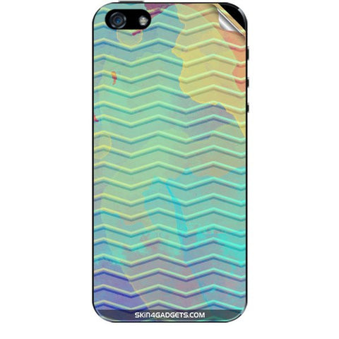 Colourful Waves For APPLE IPHONE 5S Skin
