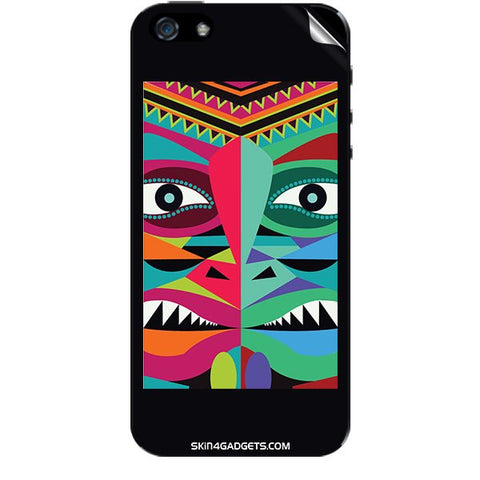 Tribal Face For APPLE IPHONE 5S Skin