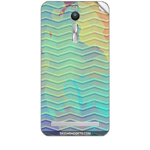 Colourful Waves For ASUS ZENFONE 2 Skin