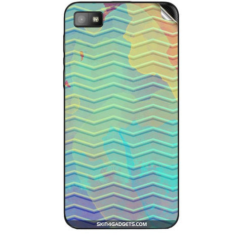 Colourful Waves For BLACKBERRY Z10 Skin