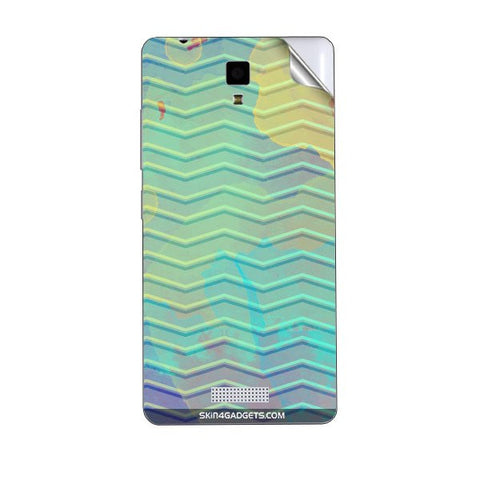 Colourful Waves For GIONEE P4 Skin