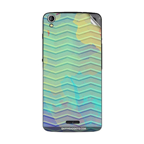 Colourful Waves For GIONEE P6 Skin