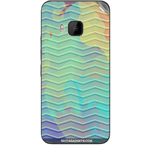 Colourful Waves For HTC ONE M9 Skin