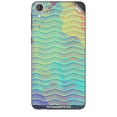 Colourful Waves For HTC DESIRE 820 Skin
